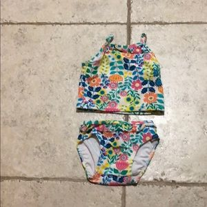 Hanna Andersson girl two piece swimsuit 3-6 months